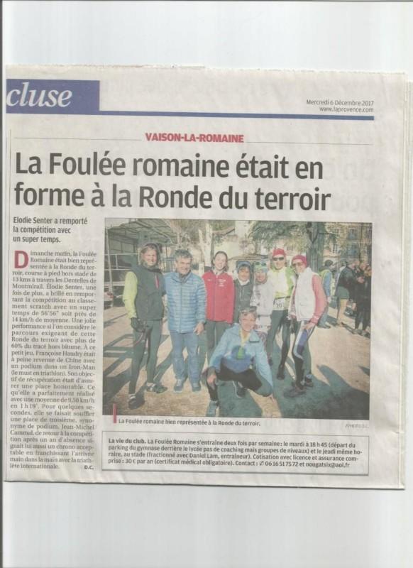 Presse 2017 12 06 La Ronde du terroir