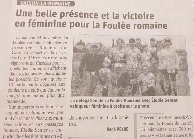 Presse 2019 11 27 VaucluseMatin Rochefort du Gard