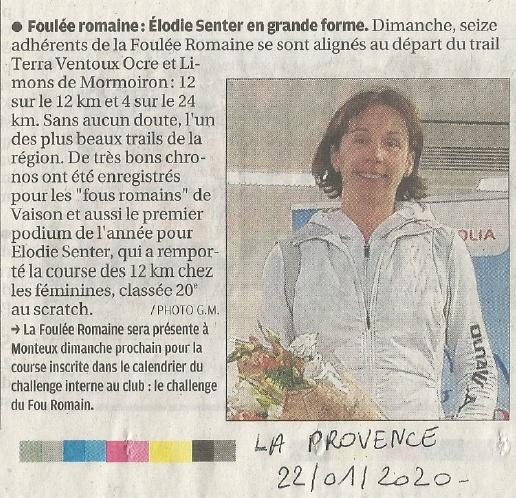 Presse 2020 01 22 La Provence